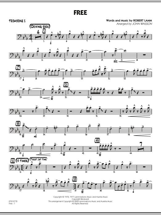 John Wasson Free - Trombone 2 sheet music notes and chords