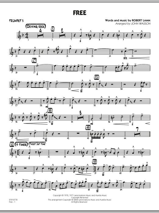 John Wasson Free - Trumpet 3 sheet music notes and chords