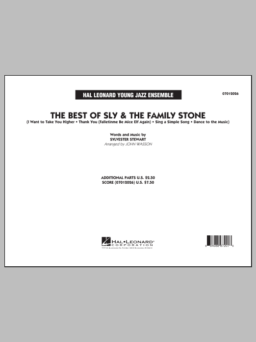 John Wasson The Best of Sly & The Family Stone - Conductor Score (Full Score) sheet music notes and chords. Download Printable PDF.