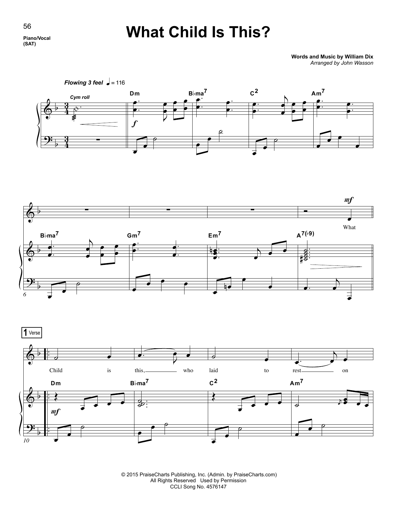 John Wasson What Child Is This? sheet music notes and chords. Download Printable PDF.