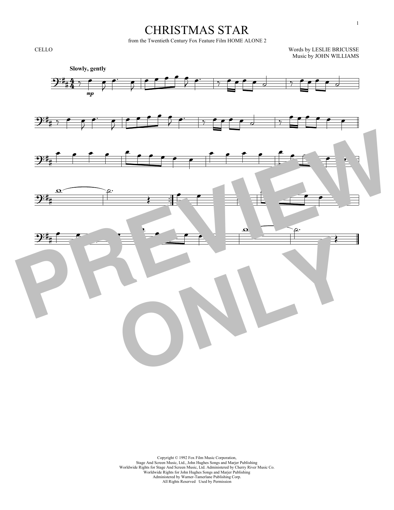 John Williams Christmas Star sheet music notes and chords. Download Printable PDF.
