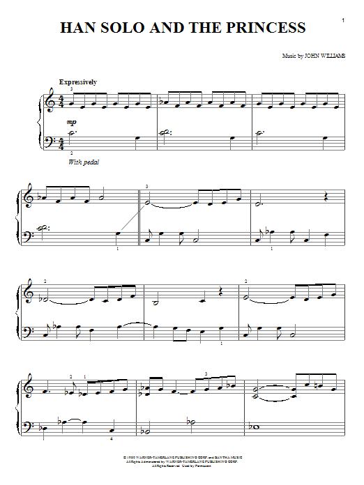 John Williams Han Solo And The Princess sheet music notes and chords