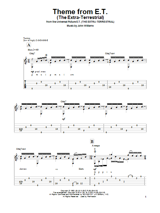 Ben Woolman Theme From E.T. (The Extra-Terrestrial) sheet music notes and chords. Download Printable PDF.