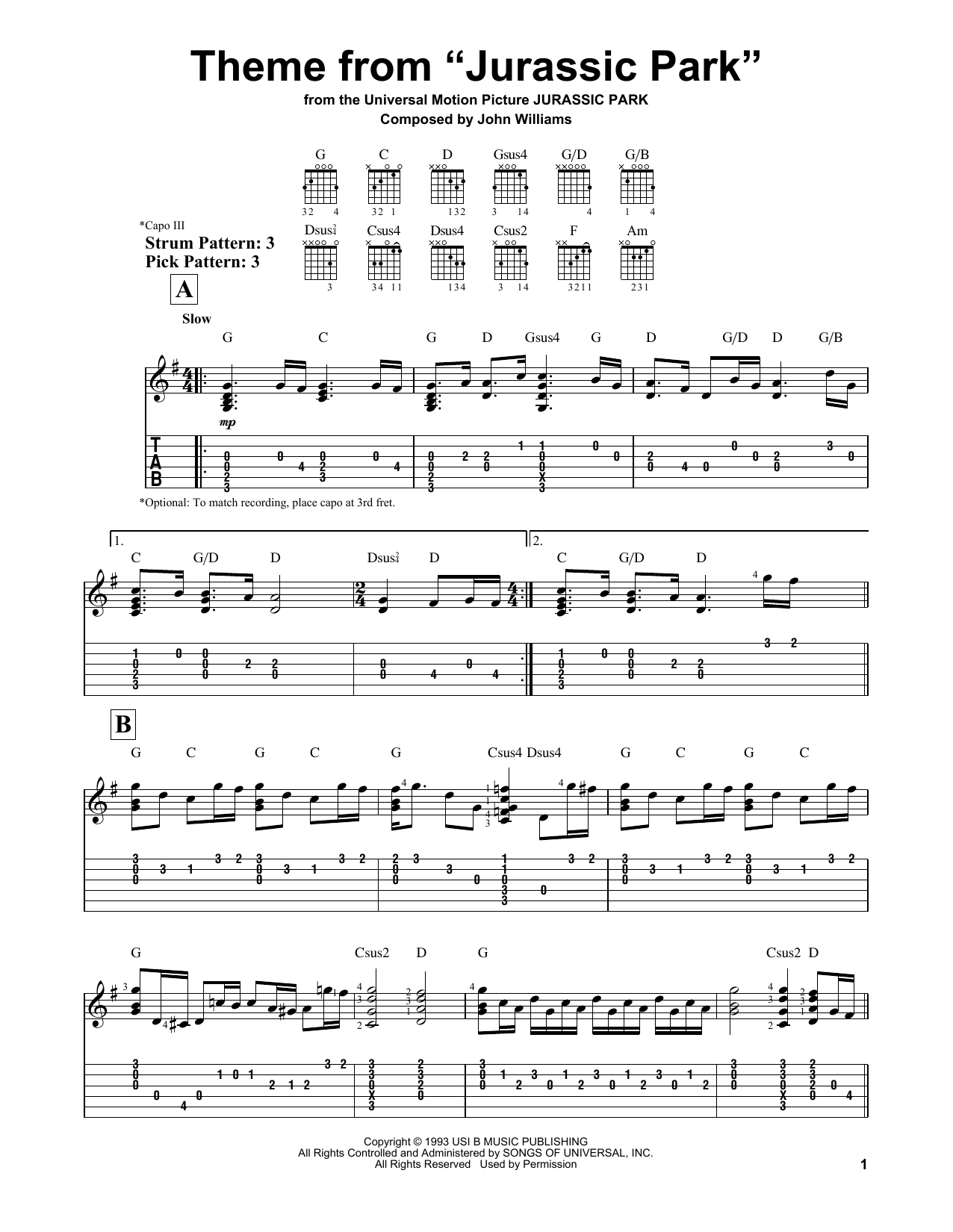 Jurassic Park Theme Song Piano Notes {Eddie Cheever}