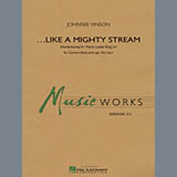 Download Johnnie Vinson 'Like a Mighty Stream (for Concert Band and Narrator) - Eb Baritone Saxophone' Printable PDF 2-page score for Festival / arranged Concert Band SKU: 351096.