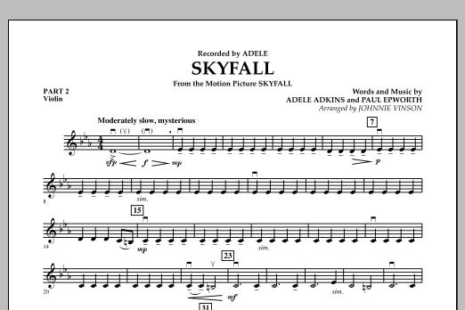 Johnnie Vinson Skyfall - Pt.2 - Violin sheet music notes and chords. Download Printable PDF.