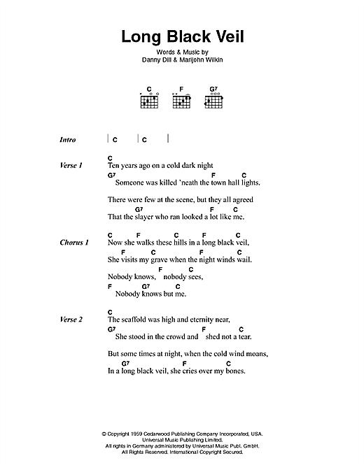 Johnny Cash Long Black Veil Sheet Music Pdf Notes Chords Country Score Guitar Chords Lyrics Download Printable Sku 46353 # перевод песни hurt (johnny cash). johnny cash long black veil sheet music notes chords download printable guitar chords lyrics pdf score sku 46353
