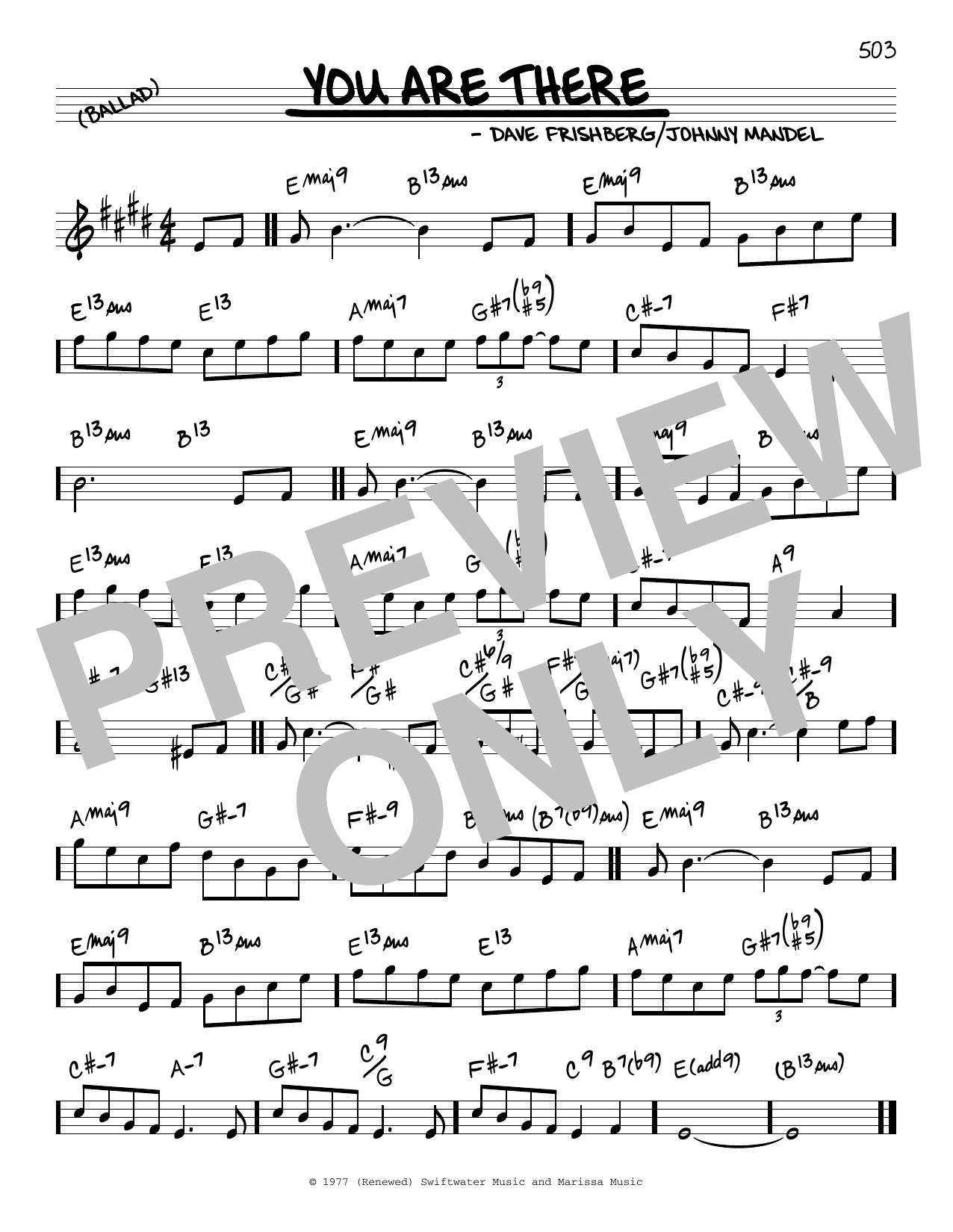 Johnny Mandel and Dave Frishberg You Are There sheet music notes and chords. Download Printable PDF.