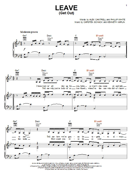 JoJo Leave (Get Out) sheet music notes and chords. Download Printable PDF.
