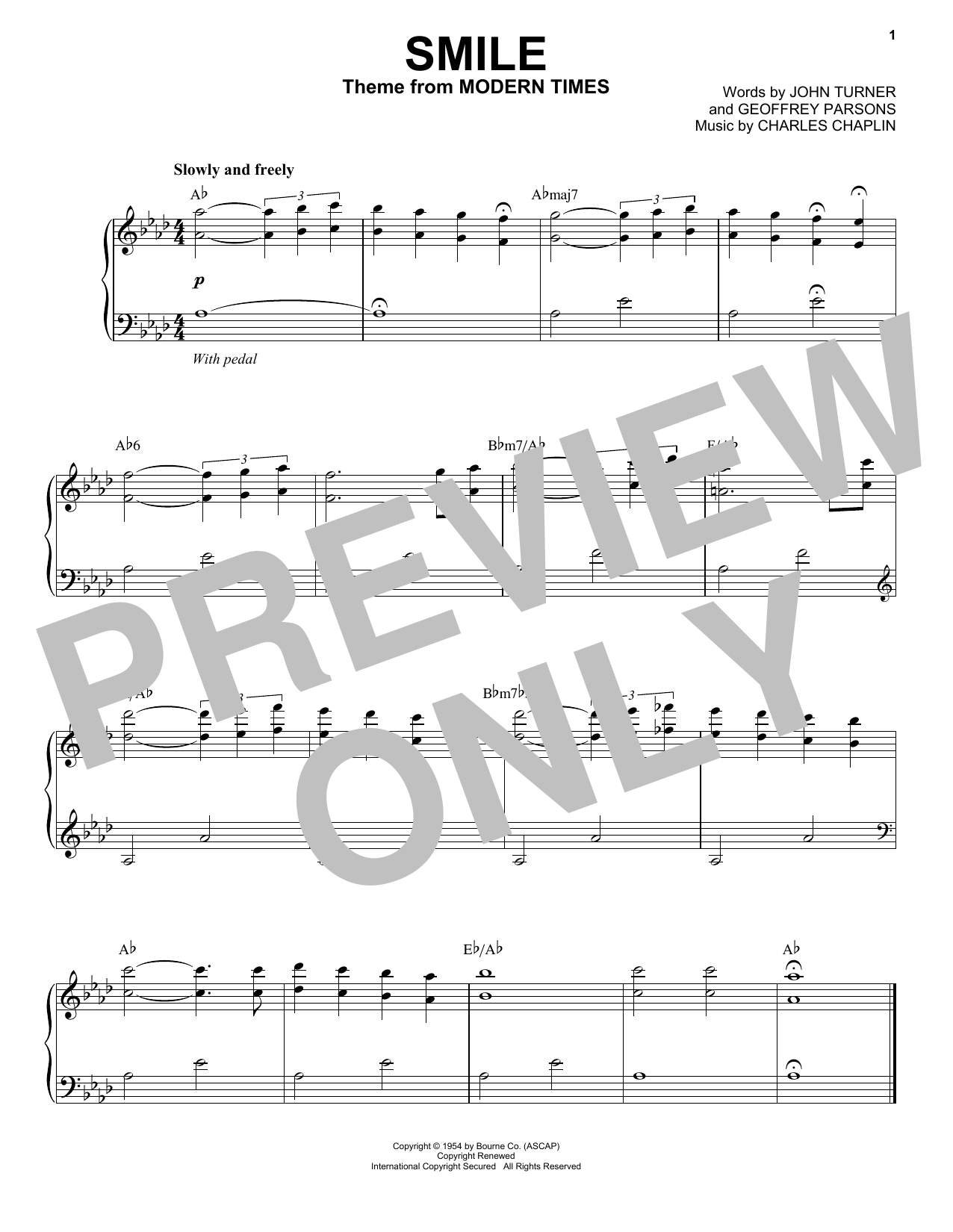 Jon Batiste Smile sheet music notes and chords