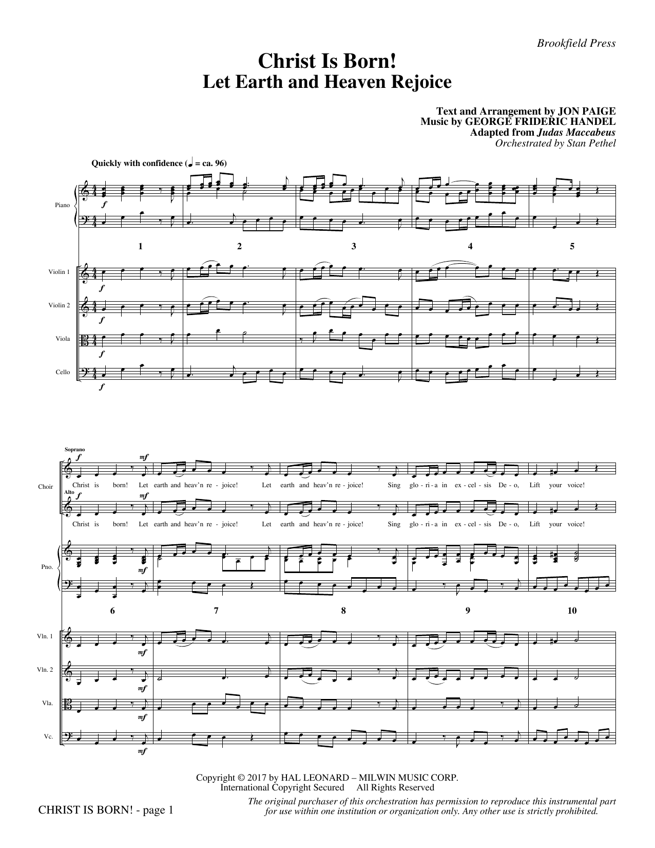 Jon Paige Christ Is Born! - Full Score sheet music notes and chords. Download Printable PDF.