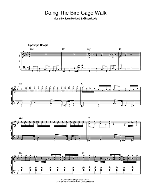 Jools Holland Doing The Bird Cage Walk (theme from Later ... With Jools Holland) sheet music notes and chords. Download Printable PDF.