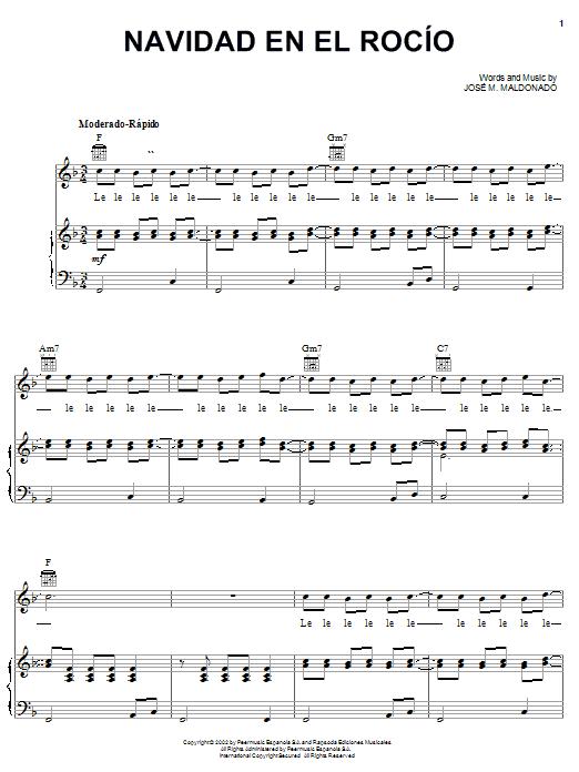 José M. Maldonado Navidad En El Rocío sheet music notes and chords. Download Printable PDF.
