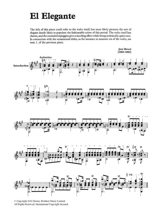 Jose Broca El Elegante sheet music notes and chords. Download Printable PDF.