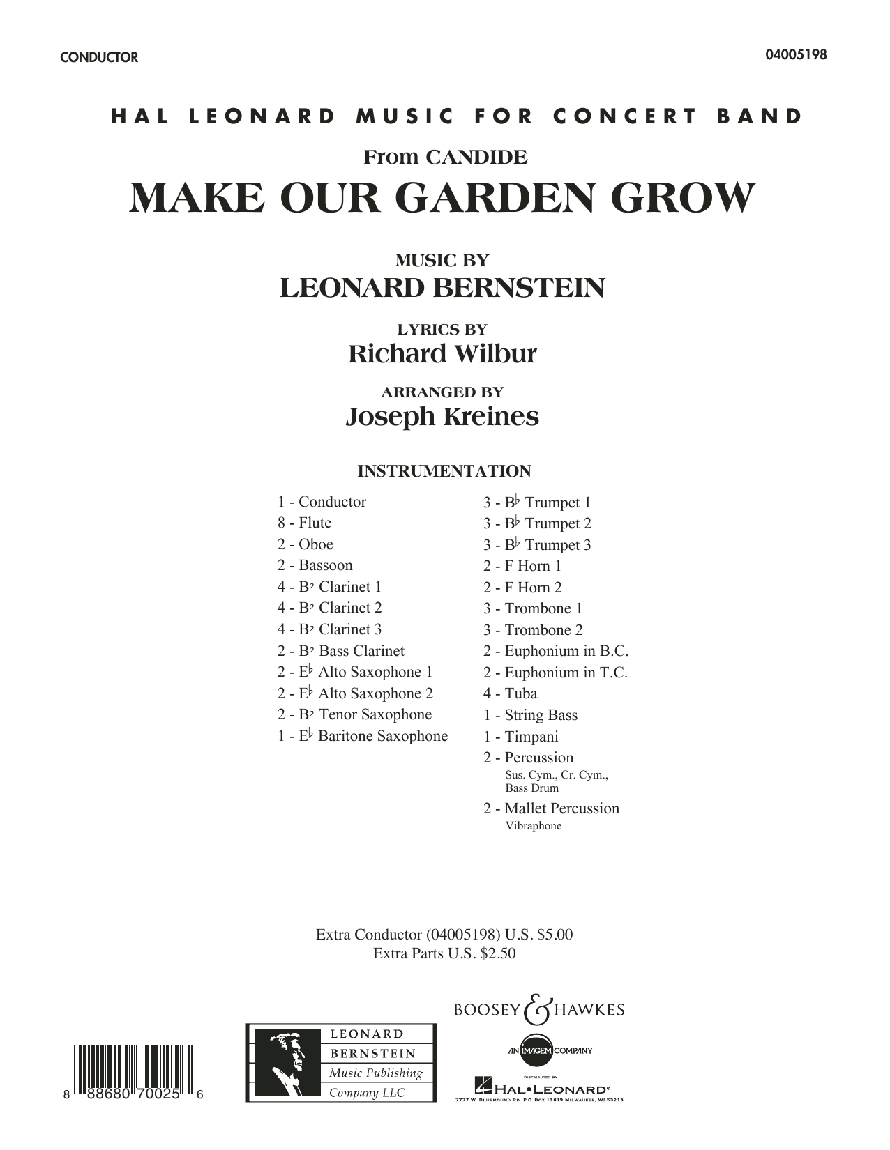 Joseph Kreines Make Our Garden Grow (from Candide) - Conductor Score (Full Score) sheet music notes and chords. Download Printable PDF.