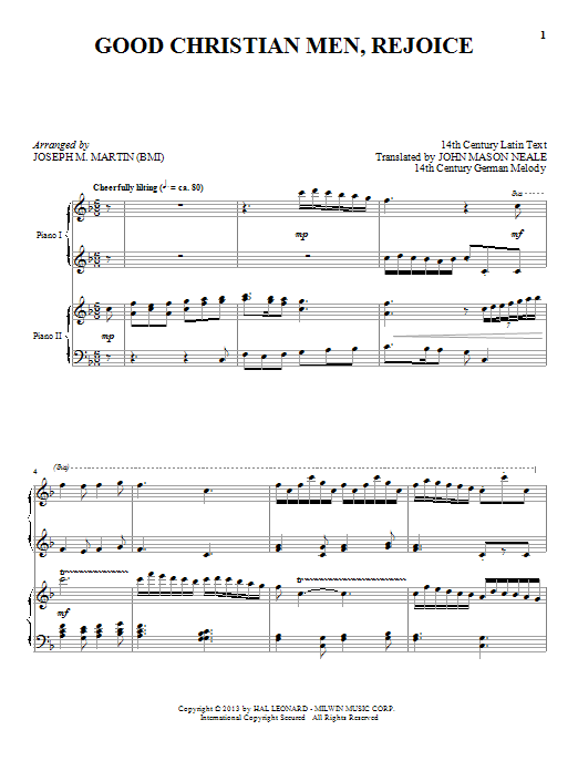 Joseph M. Martin Good Christian Men, Rejoice sheet music notes and chords. Download Printable PDF.