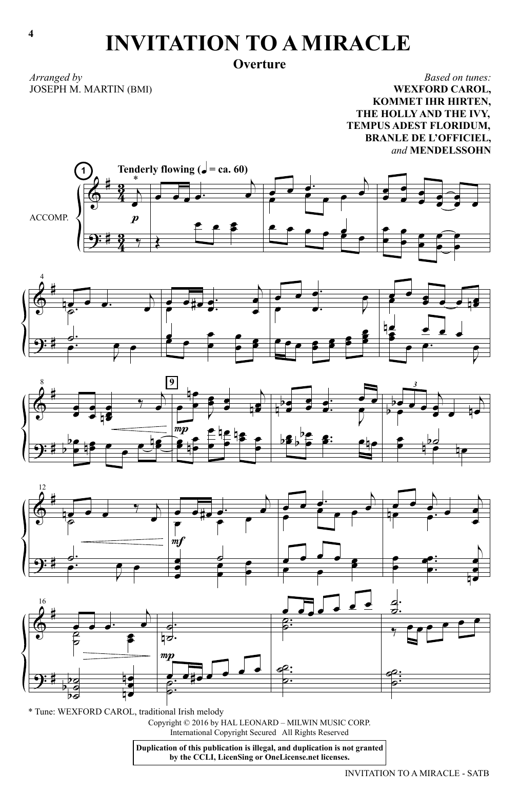 Joseph M. Martin Invitation To A Miracle sheet music notes and chords. Download Printable PDF.