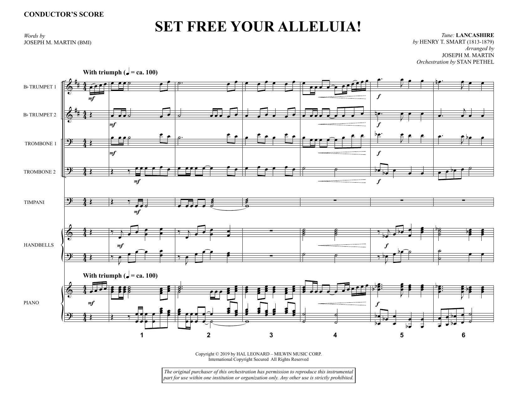 Joseph M. Martin Set Free Your Alleluia! - Full Score sheet music notes and chords. Download Printable PDF.