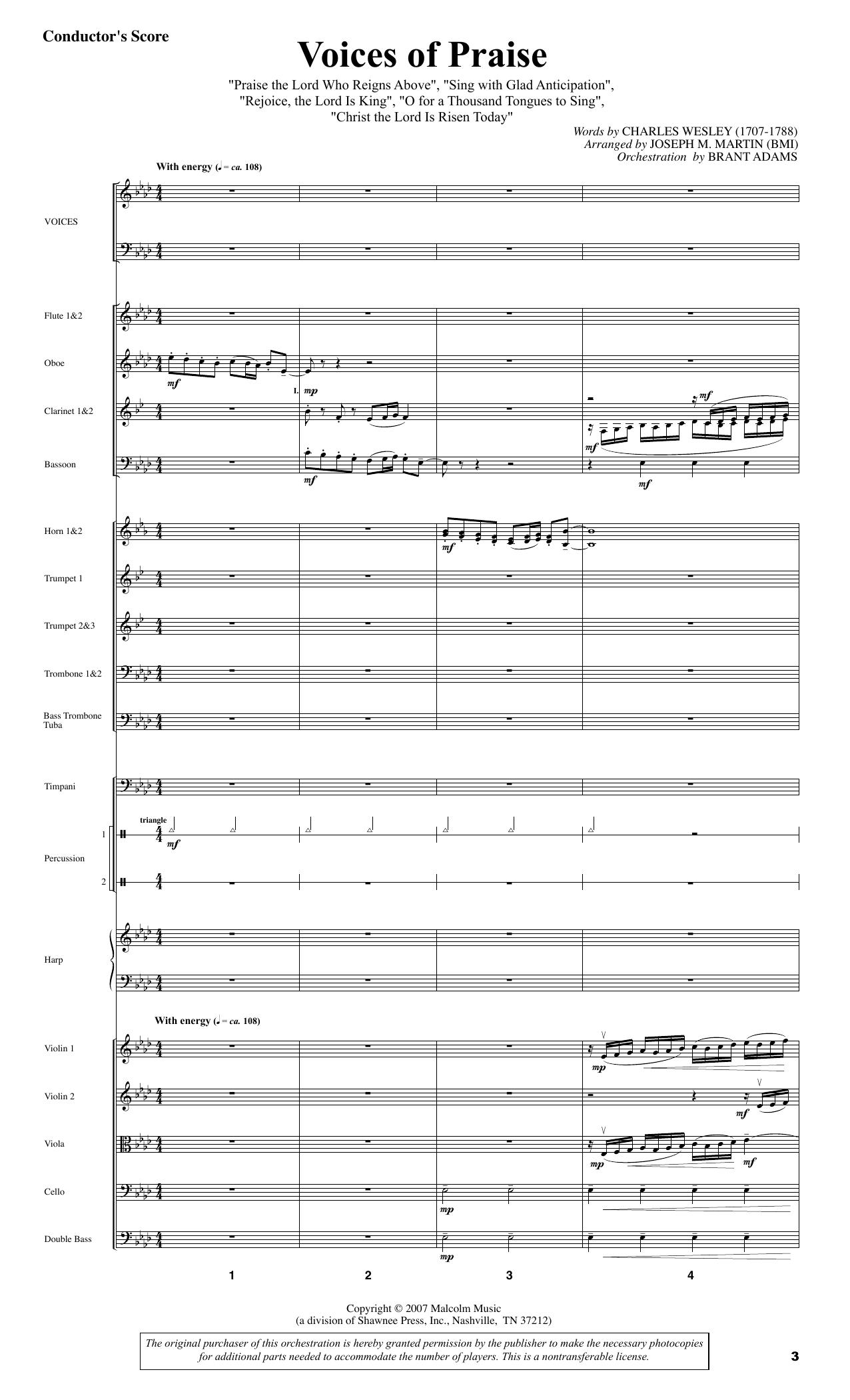 Joseph M. Martin Testament of Praise (A Celebration of Faith) - Full Score sheet music notes and chords. Download Printable PDF.
