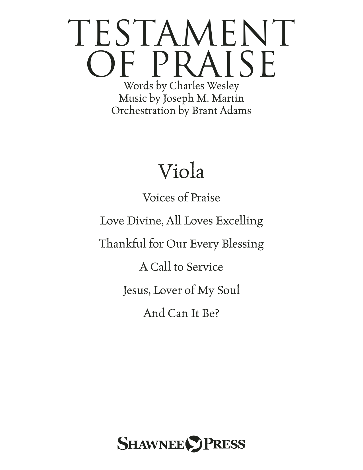 Joseph M. Martin Testament of Praise (A Celebration of Faith) - Viola sheet music notes and chords. Download Printable PDF.
