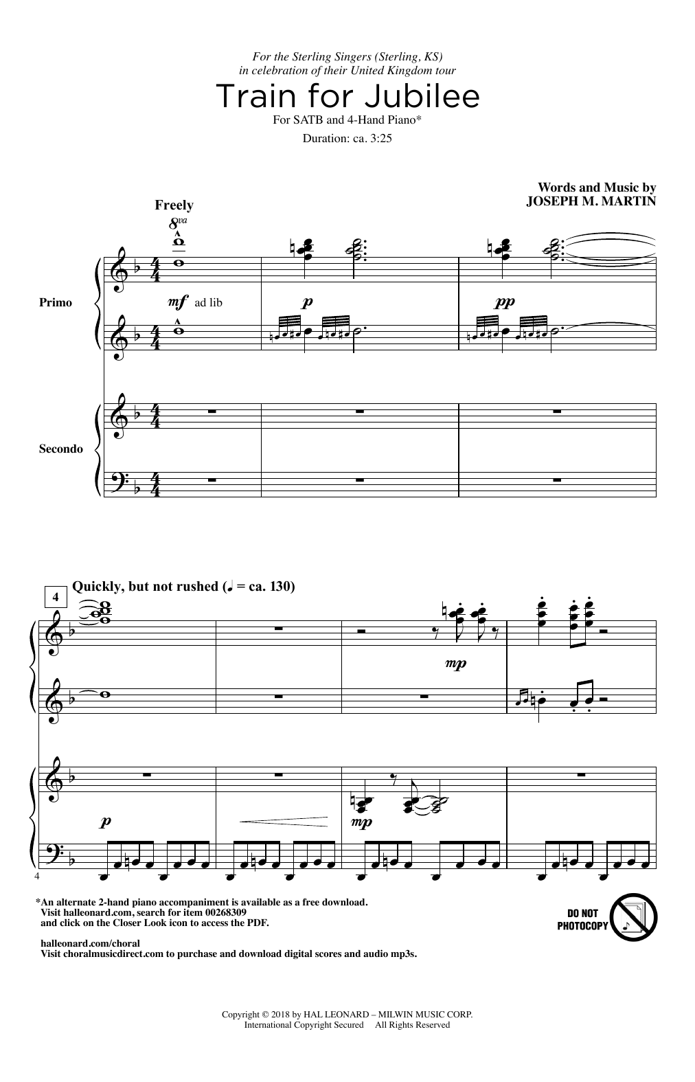 Joseph M. Martin Train For Jubilee sheet music notes and chords