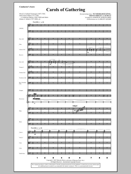 Joseph Martin Carols Of Gathering (from Season Of Wonders) - Score sheet music notes and chords. Download Printable PDF.