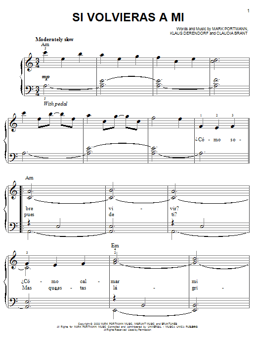 Josh Groban Si Volvieras A Mi sheet music notes and chords