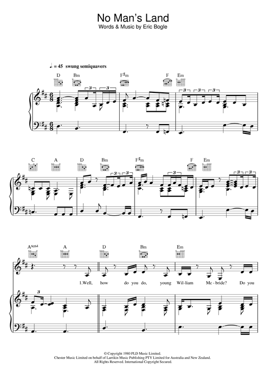 Joss Stone No Man's Land / The Green Fields Of France (feat. Jeff Beck) sheet music notes and chords