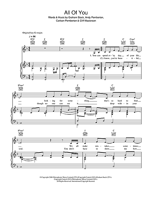 Journey South All Of You sheet music notes and chords. Download Printable PDF.
