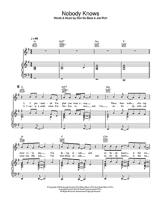 Journey South Nobody Knows sheet music notes and chords. Download Printable PDF.