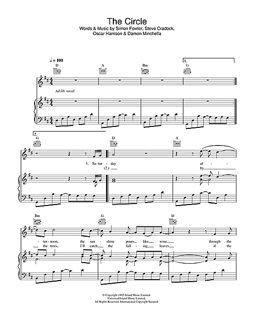 Journey South The Circle sheet music notes and chords. Download Printable PDF.