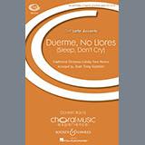 Download or print Juan-Tony Guzman Duerme, No Llores (Sleep, Don't Cry) Sheet Music Printable PDF 9-page score for Christmas / arranged 2-Part Choir SKU: 410592.