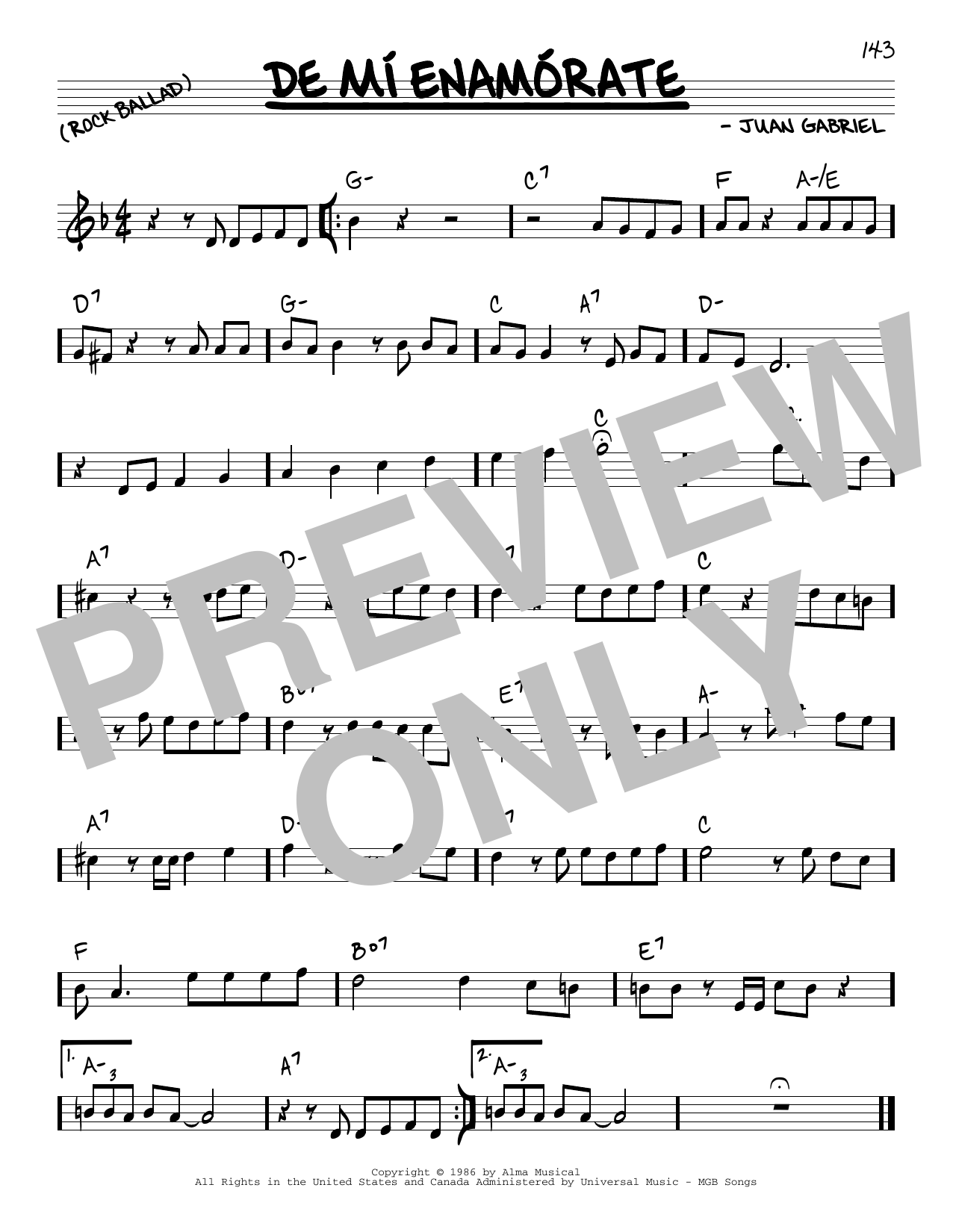 Juan Gabriel De Mi Enamorate sheet music notes and chords. Download Printable PDF.