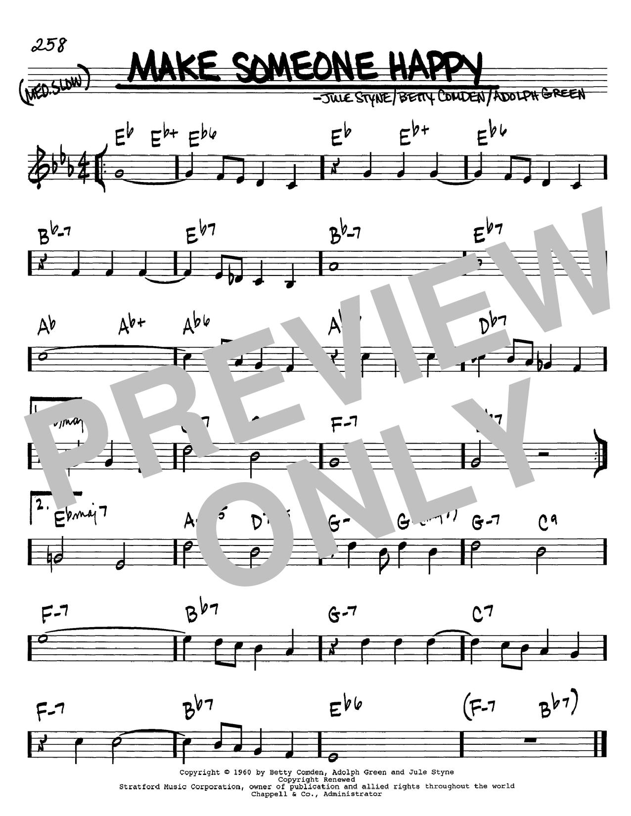Jule Styne Make Someone Happy sheet music notes and chords. Download Printable PDF.