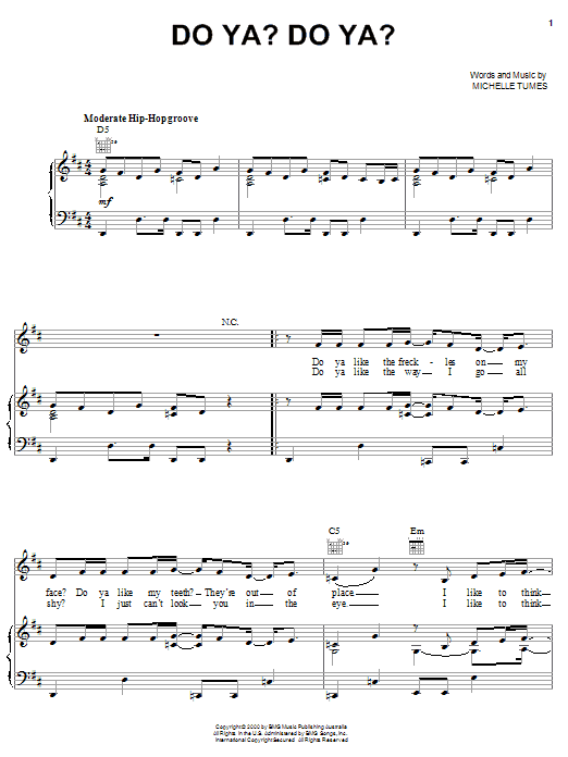Jump5 Do Ya? Do Ya? sheet music notes and chords. Download Printable PDF.