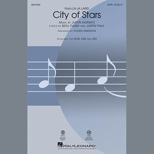Easily Download Justin Hurwitz Printable PDF piano music notes, guitar tabs for Choir Instrumental Pak. Transpose or transcribe this score in no time - Learn how to play song progression.