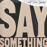 Download Justin Timberlake 'Say Something (feat. Chris Stapleton) (arr. Mac Huff) - Synthesizer' Printable PDF 2-page score for Pop / arranged Choir Instrumental Pak SKU: 378802.