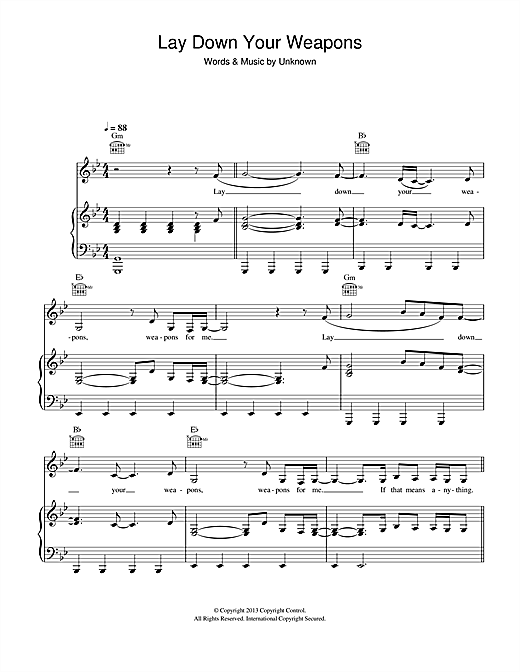 K Koke Lay Down Your Weapons (feat. Rita Ora) sheet music notes and chords