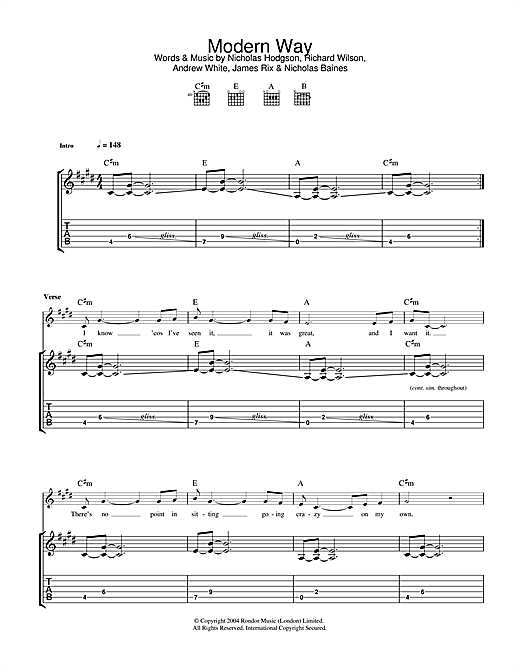Kaiser Chiefs Modern Way sheet music notes and chords. Download Printable PDF.