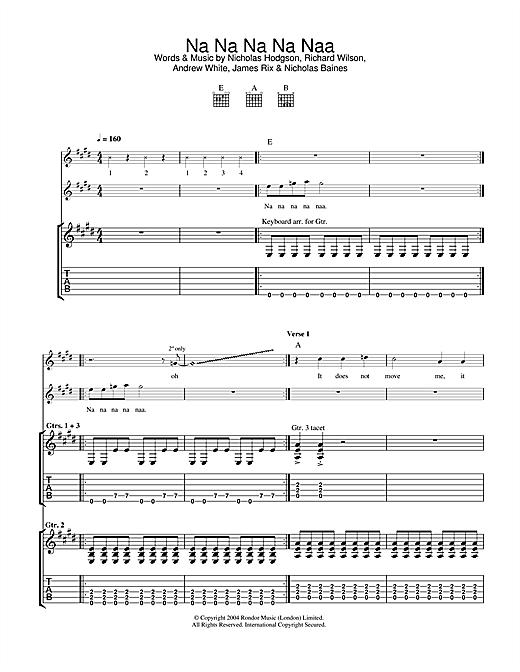 Kaiser Chiefs Na Na Na Na Naa sheet music notes and chords. Download Printable PDF.
