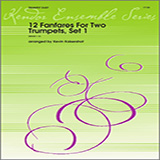 Download or print Kaisershot 12 Fanfares For Two Trumpets, Set 1 Sheet Music Printable PDF 6-page score for Classical / arranged Brass Ensemble SKU: 124813.