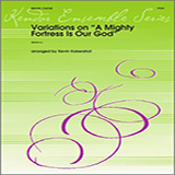 Download or print Kaisershot Variations On A Mighty Fortress Is Our God - 2nd Trombone Sheet Music Printable PDF 3-page score for Classical / arranged Brass Ensemble SKU: 322346.