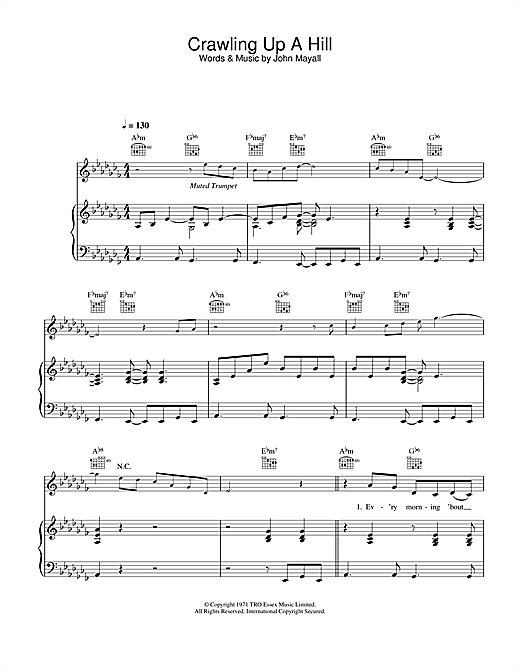 Katie Melua Crawling Up A Hill sheet music notes and chords