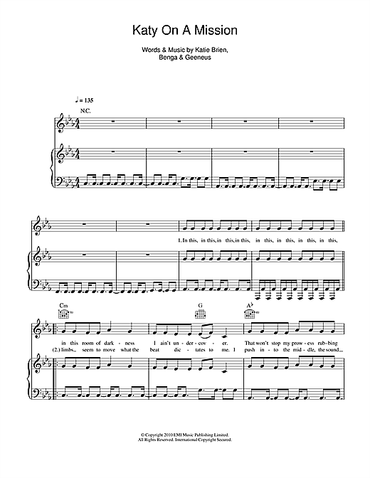 Katy B Katy On A Mission sheet music notes and chords. Download Printable PDF.