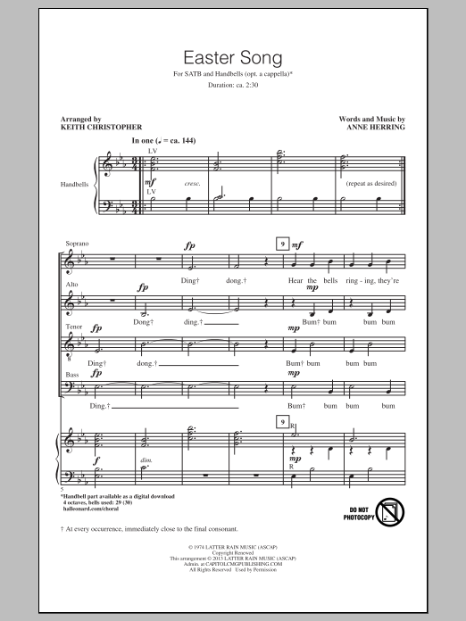 Keith Christopher Easter Song sheet music notes and chords. Download Printable PDF.