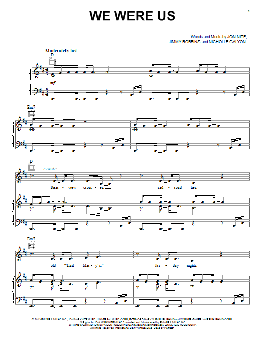 Keith Urban We Were Us sheet music notes and chords. Download Printable PDF.