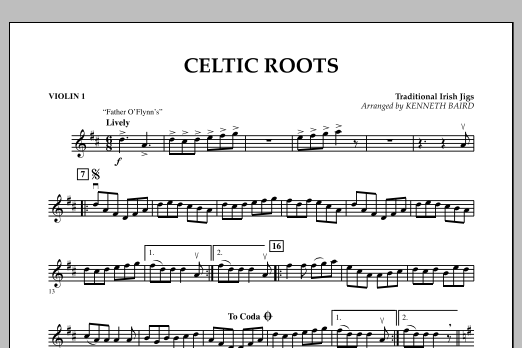 Kenneth Baird Celtic Roots - Violin 1 sheet music notes and chords. Download Printable PDF.
