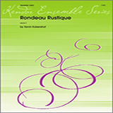 Download Kevin Kaisershot 'Rondeau Rustique - Full Score' Printable PDF 5-page score for Classical / arranged Brass Ensemble SKU: 340955.