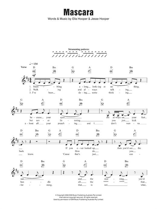 Killing Heidi Mascara sheet music notes and chords. Download Printable PDF.