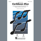 Download Kirby Shaw 'Caribbean Blue - Synthesizer' Printable PDF 4-page score for New Age / arranged Choir Instrumental Pak SKU: 306010.